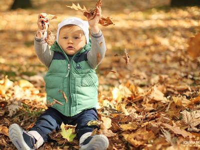 Dawidek - jesienna sesja uroczego panicza